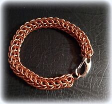 """Brand new hand crafted 8.25"""" COPPER Chain Maille Bracelet Ships FREE"""
