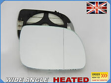 Seat Arosa 1999-2004 Wing Mirror Glass Aspheric HEATED Right Side #1027