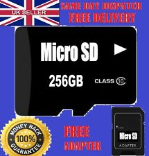 256GB Micro SD Memory card CLASS 10 SDHC,SDXC for mobiles laps tablet camera etc