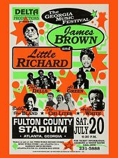 "James Brown / Little Richard Fulton 16"" x 12"" Reproduction Concert Poster Photo"