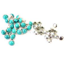20 Paires Rivet Clou Turquoise Décor DIY Couture Ceinture Sac Collier Bracelet