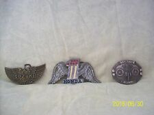 Honda, Yamaha & Suzuki Vintage Metal Advertising Belt Buckles