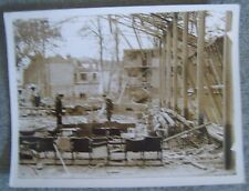 WW2 original press photo censor copy Bomb Damage Alcarzar boxing ring 23/8/1940