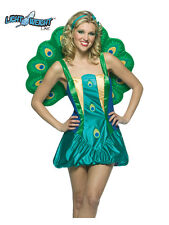 Exotic Wild Bird Zoo Animal Peacock Ladies Fancy Dress Costume XS-M One Size New