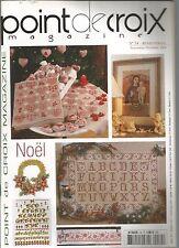 POINT DE CROIX MAGAZINE N°34 NOEL : COEURS - COURONNES DE NOEL - ALPHABETS NOEL