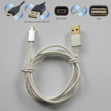 Dual Side 1M/3FT Micro USB Cable Fast Data Sync Charger Cord For Android Phones