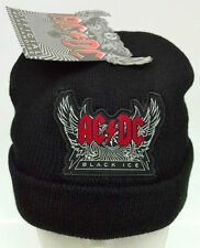 AC/DC 'BLACK ICE' OFFICIAL BLACK BEANIE ONE-SIZE-FITS-MOST BNWT