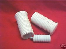 Harley,Sportster,57-85 Classic White foot pegs & shift rubber