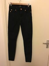 NEW 7 for all mankind high waist skinny jeans black W25 RRP £180