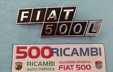 FIAT 500 D/F/L/R SCRITTA FIAT 500L IN PLASTICA CROMATA FREGIO COFANO MOTORE POST