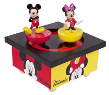 Trousselier s95200 musical madera caja de música mickey mouse & Minnie nuevo & OVP