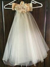 Vintage Victorian Style Off  Double Illusion Veil with Satin Bow.