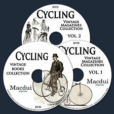 Cycling Vintage Books & Magazine Collection 153 PDF E-Books on 3 DVD's Bicycle