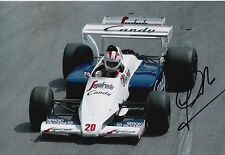 Johnny Cecotto Hand Signed 12x8 Photo Toleman Group F1 3.