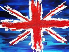 ART PRINT PAINTING DRAWING UNION FLAG JACK BRITAIN ULSTER UK NOFL0067