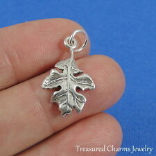 .925 Sterling Silver OAK LEAF CHARM Autumn Fall Tree Nature PENDANT