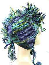 R641 NEW Gorgeous Hand Knitted Ear Flap Woolen Hat/Cap Made in Nepal