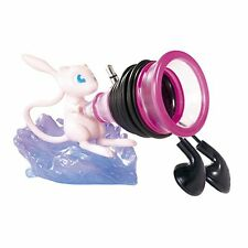 Pokemon Desk de Oyakudachi Figure #8 Mew Psychic Cord reel earphone