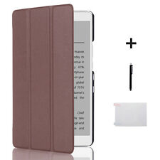 """NEW Auto Sleep Leather Cover Case+Film+Touch pen For Huawei M3 Tablet 8.4"""""""