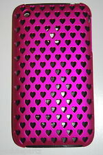 Orbyx iPhone 3G / 3GS  Pink Heart Slim Case Cover & Screen Protector
