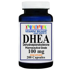 DHEA 100mg 200 Capsules Pharmaceutical Grade by Vitamins Because Your Worth it