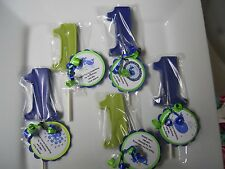 12 Ocean Preppy Blue Whale themed 1st Birthday Party Favors & custom tags