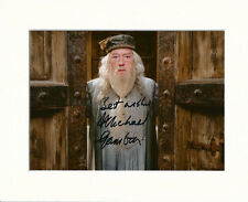 MICHAEL GAMBON DUMBLEDORE HARRY POTTER PP 8x10 MOUNTED SIGNED AUTOGRAPH PHOTO