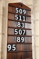 Church Hymn  Numbers / School plastic Hymn board Number Sets – White on Black