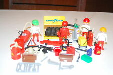 Playmobil Lote gasolinera 1 gas oil oil gas station konvolut 1 Race carreras