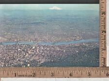 1960s USED POST CARD AERIAL VIEW PORTLAND OR