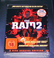THE RAID 2 EXKLUSIV STEELBOOK EDITION  2 BLU RAY DISC EDITION  NEU & OVP