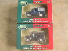 LOT OF 2 LAND ROVER DEFENDER 90 WITH CANOPY & HARDTOP: BRITAINS 1:32 SCALE BNIB