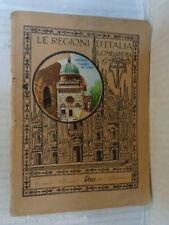 Vecchio quaderno scolastico di scuola le regioni italia lombardia cappella