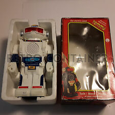 Vintage Toys - TOMMY THE ATOMIC ROBOT - White con scatola Box Tomy Hong Kong 10""