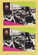 Lot of 2 identical U2 Bono Vox Edge Adam Clayton Larry Mullen cards