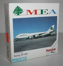 Herpa Wings-Boeing 747-200-MEA-m/w Reg.-1:500-Aircraft-#502627-very rare