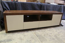 local made tassie oak hardwood timber fairmont+ lowline tv unit with poly door。