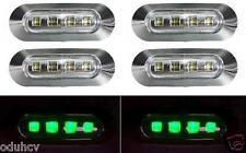6x 4 LED Lateral VERDE Bisel Cromado Luz De Señalización para Camiones Autobuses