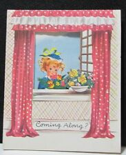 Vintage Fravessi-Lamont, Inc. 1950s Girl Get Well CARD Made in USA
