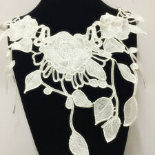 New Lace Embroidered Floral Neckline Neck Collar Trim Clothes Sewing Applique 86
