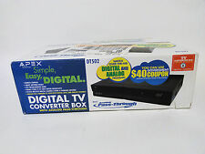 Apex DT502 Digital TV Converter Box with Analog Pass-Through SEALED