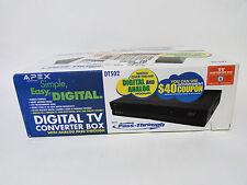 Apex DT502 Digital TV Converter Box with Analog Pass-Through SEALED