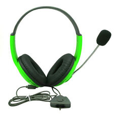 Green Gaming Headset Headphone Slim Wireless Controller with Mic for Xbox 360