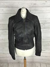 Women's ASOS Leather Jacket - UK10 - Grey - Great Condition