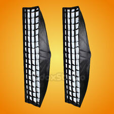 2PCS Godox 35x160cm Strip Beehive Honeycomb Grid Softbox w/ Elinchrom Mount