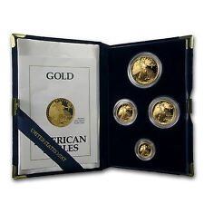 1991-P Proof Gold American Eagle 4 Coin Set - Box and Certificate - SKU #4893