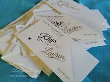Boarding Pass & Ticket Invitation SAMPLE set. Travel Destination Wedding Invites