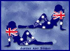 Aussie Bikini Girls Car Stickers Decal For Motorbike Trucks Caravans - STG214BTP