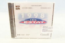 1998 E-State EStat Canada Statistics PC Computer Program Software Vintage: Rare