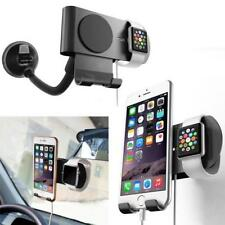 Car Charging Dock Station Charger Holder Stand For Apple Watch iPhone Aluminum